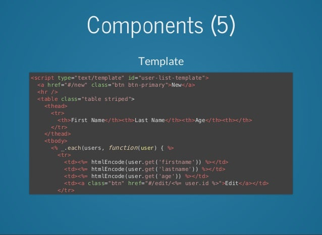 structuring web applications with backbone js