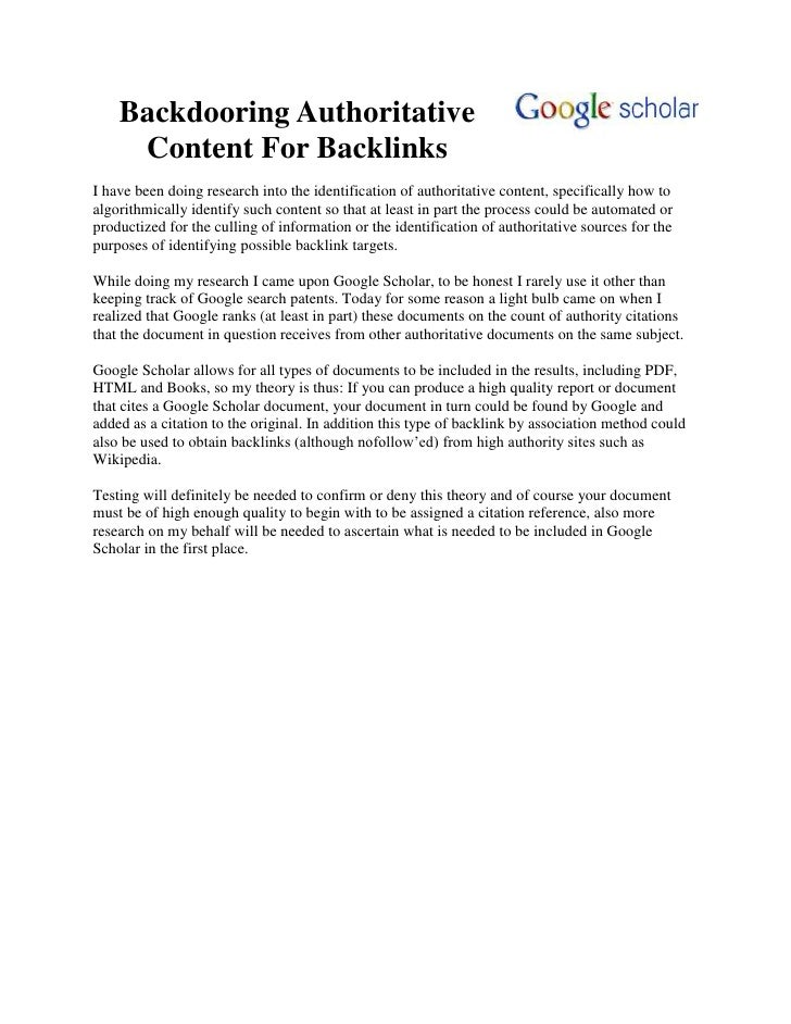"HYPERLINK "" http://www.seobocaraton.com/seoblog/post/Backdooring-Authoritative-Content-For-Backlinks.aspx""  Backdooring A..."