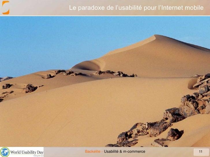 Le paradoxe de l'usabilité pour l'Internet mobile<br />11<br />Usabilité & m-commerce<br />