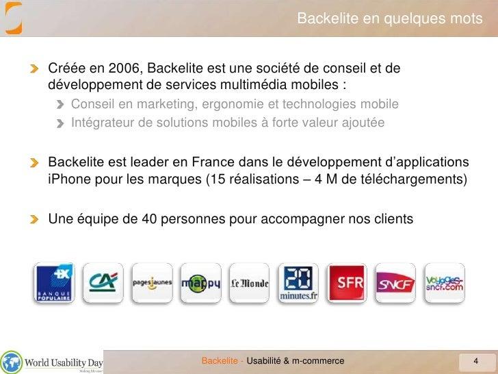 Backelite en quelques mots<br />Créée en 2006, Backelite est une société de conseil et de développement de services multim...