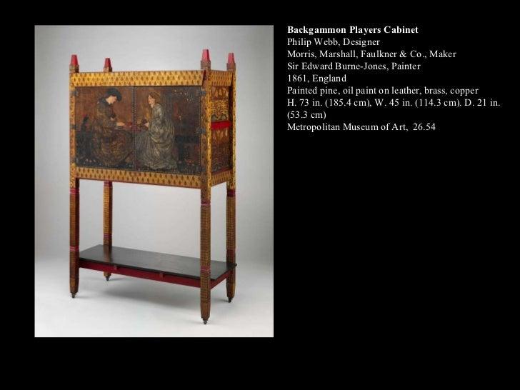 Backgammon Players Cabinet Philip Webb, Designer Morris, Marshall, Faulkner & Co., Maker Sir Edward Burne-Jones, Painter 1...