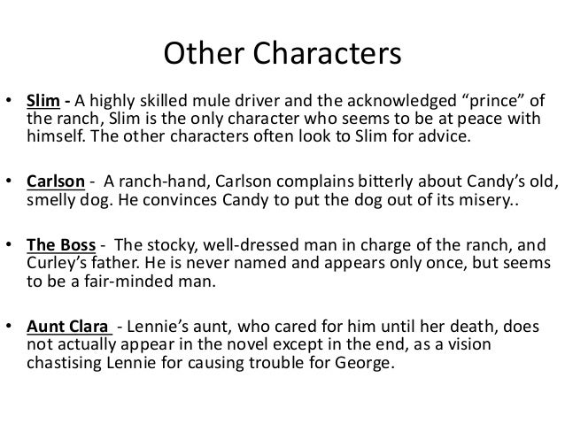 of mice and men-character personality traits