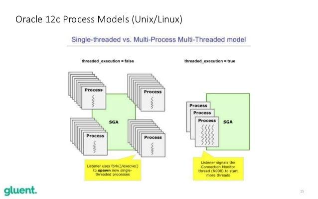 15 Oracle 12c Process Models (Unix/Linux)