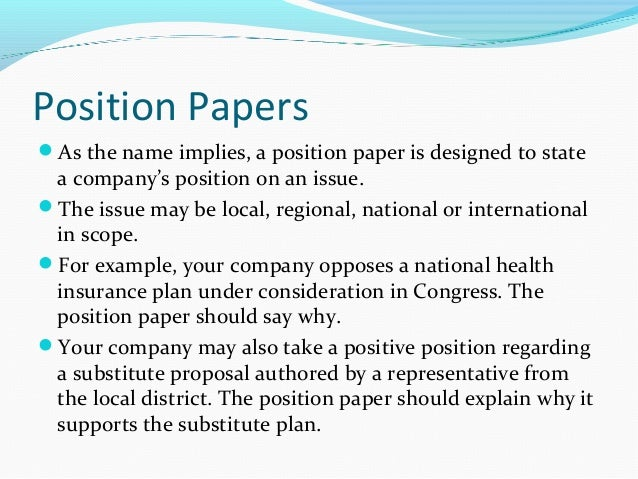 position paper essay format Vaccine position papers  this position paper should be read in conjunction with an updated questions & answers document related to the dengue vaccine dengvaxia.