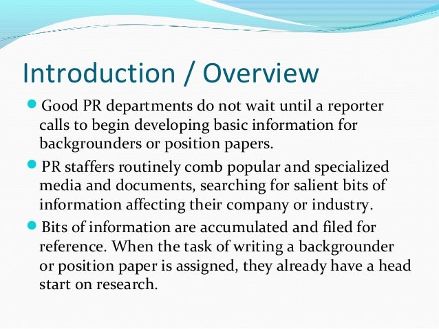 how to write an introduction for a position paper