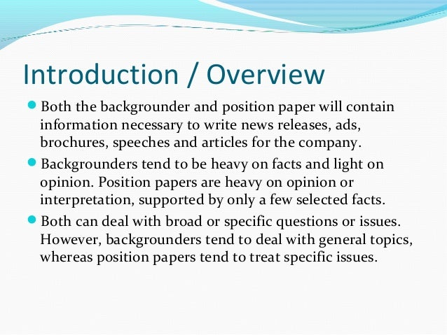how to end a position paper