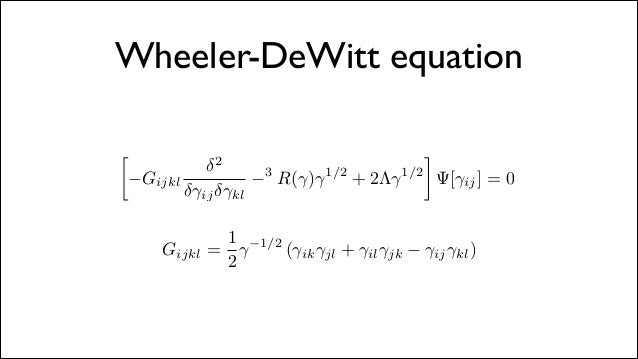 WHEELER DEWITT EQUATION PDF