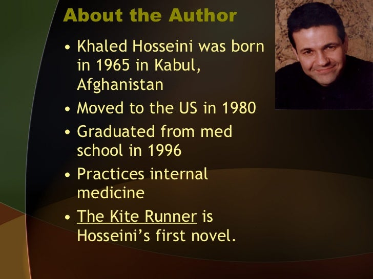 background information for the kite runner  3 about the author