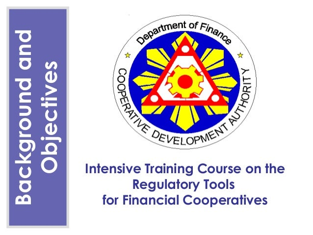 Background and  Objectives                 Intensive Training Course on the                          Regulatory Tools     ...