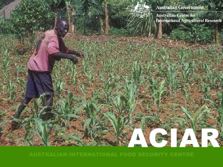 AUSTRALIAN INTERNATIONAL FOOD SECURITY CENTRE ACIAR ACIAR