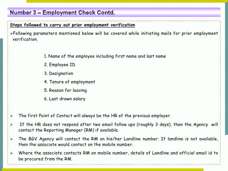 A Glimpse at Background screening process – Prior Employment Verification Form