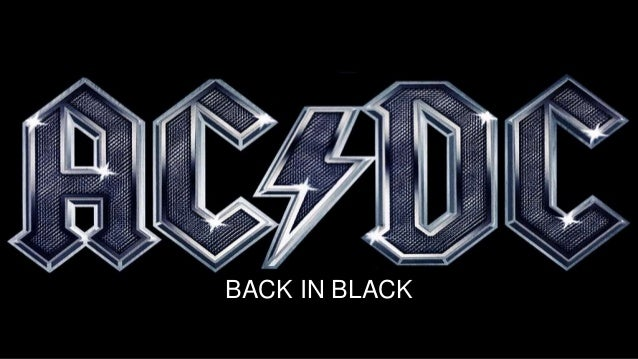 AC//DC BACK PATCH BACK IN BLACK  BAND ACDC