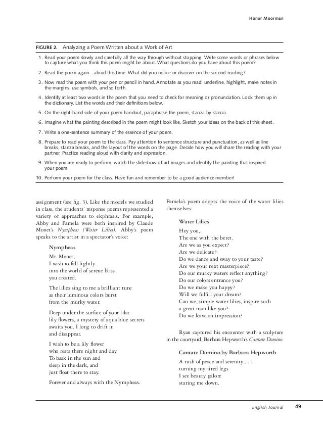 poetry essay examples - Poem Essay Examples