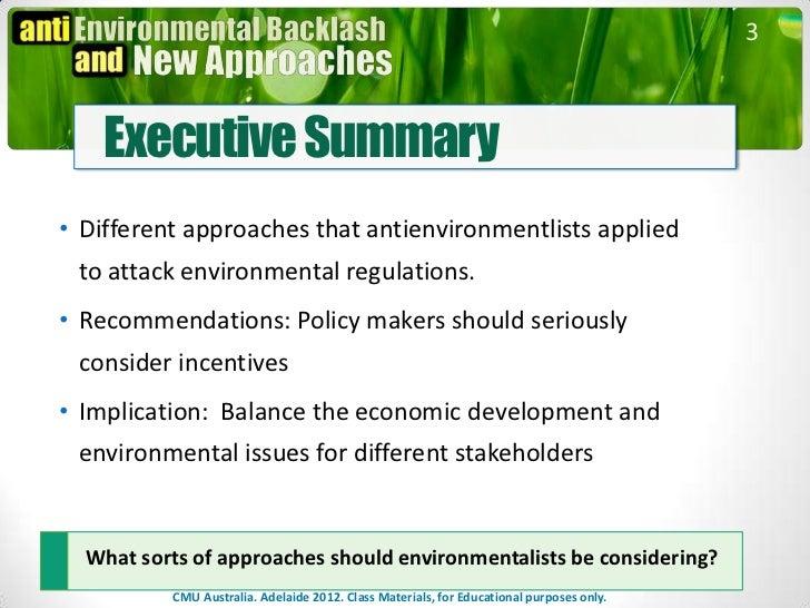 Backlash against Environmentalists Case  Slide 3