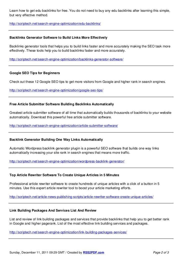Backlink Builder Software List