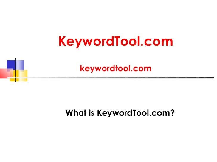 KeywordTool.com   keywordtool.comWhat is KeywordTool.com?