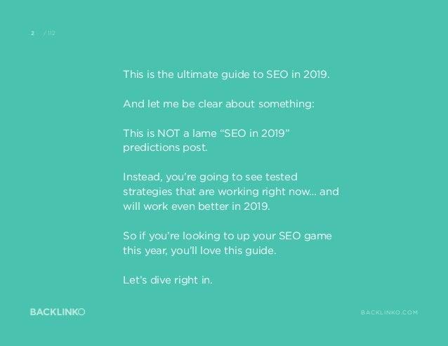 Những thuật toán SEO mới nhất 2019 Slide 2