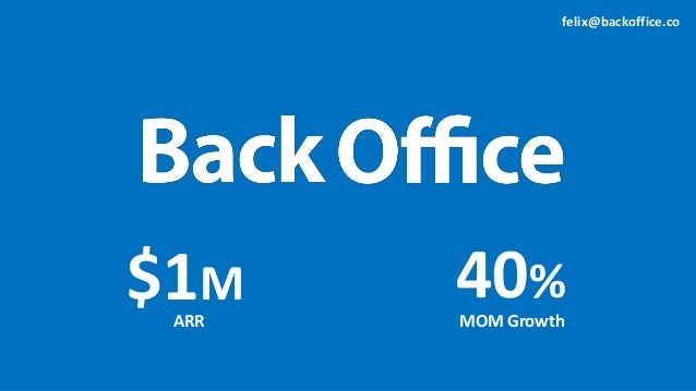 $1M ARR 40% MOM Growth felix@backoffice.co