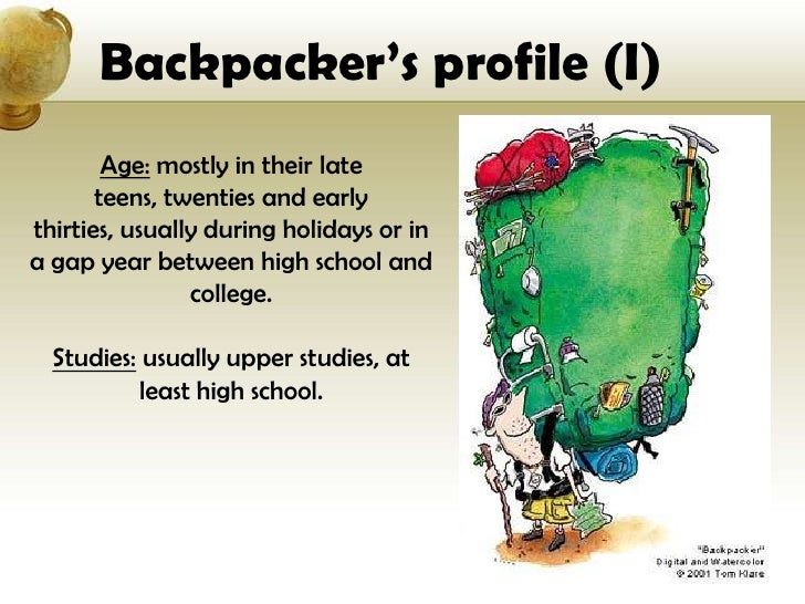 backpacker tourist profile example