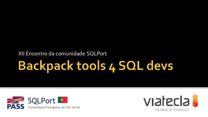 XII Encontro da comunidade SQLPort