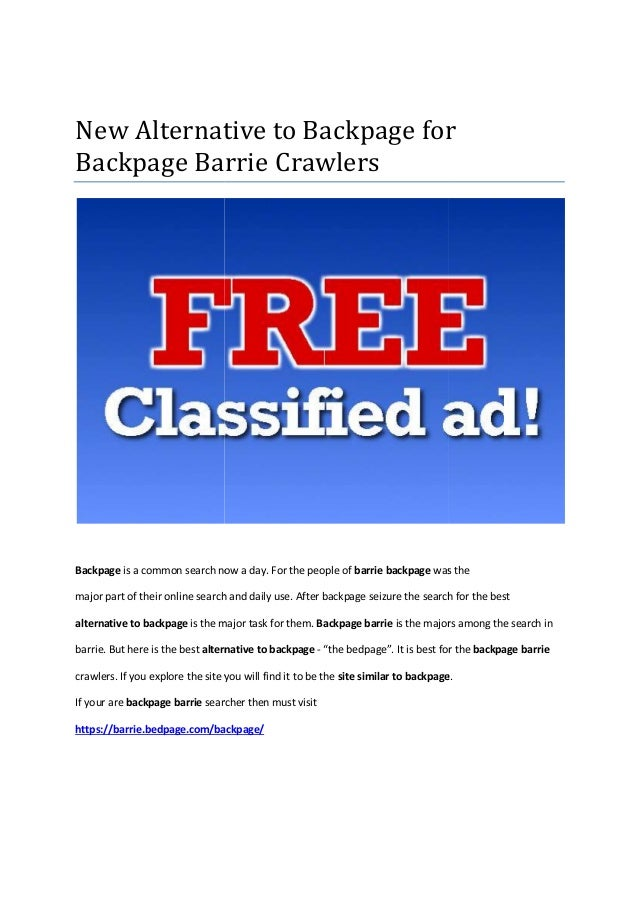 What is the new backpage