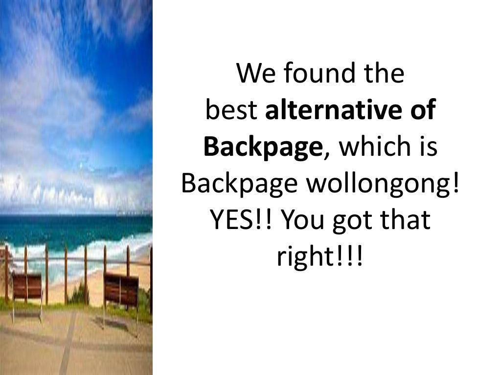 backpage wollongong a site similar to backpage!