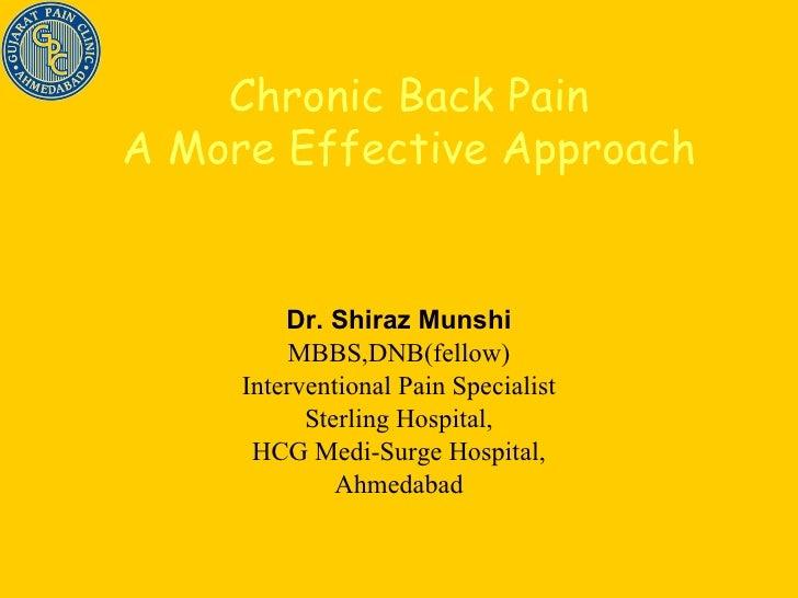 Dr. Shiraz Munshi MBBS,DNB(fellow) Interventional Pain Specialist Sterling Hospital, HCG Medi-Surge Hospital, Ahmedabad Ch...