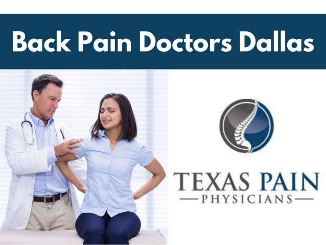Back pain doctors dallas