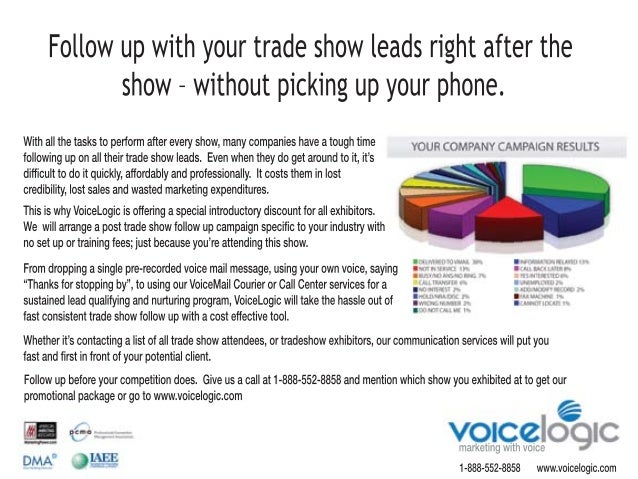 marketingwithvoice Withallthetaskstoperformaftereveryshow,manycompanieshaveatoughtime followinguponalltheirtradeshowleads....