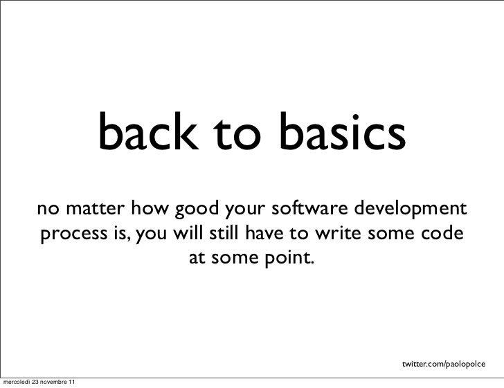 Back to basics Slide 2