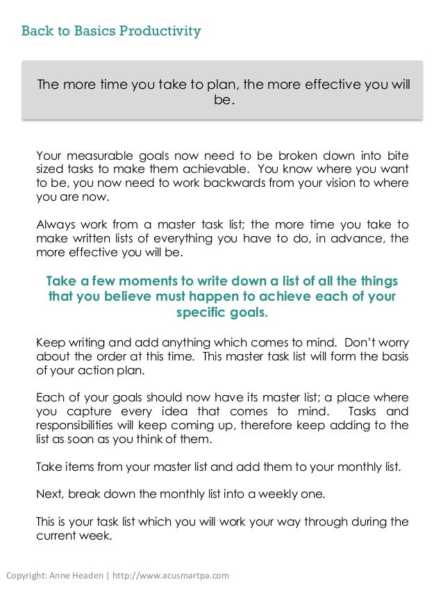 Back to basics productivity ebook 11 back to basics productivity the more time you fandeluxe PDF