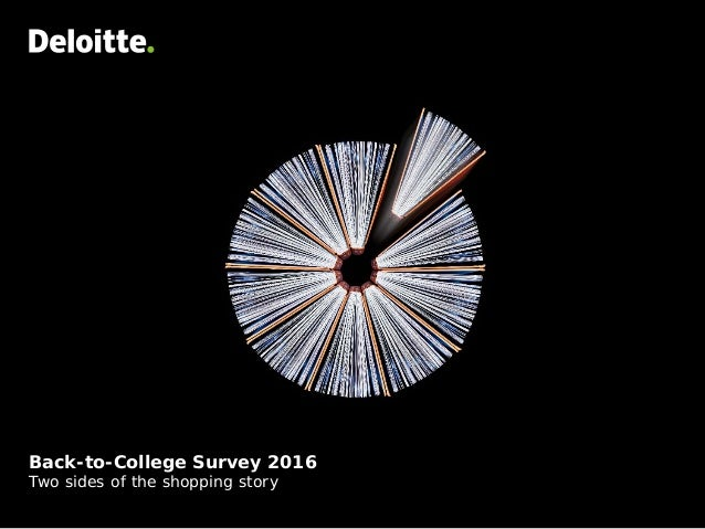 Back-to-College Survey 2016 Two sides of the shopping story