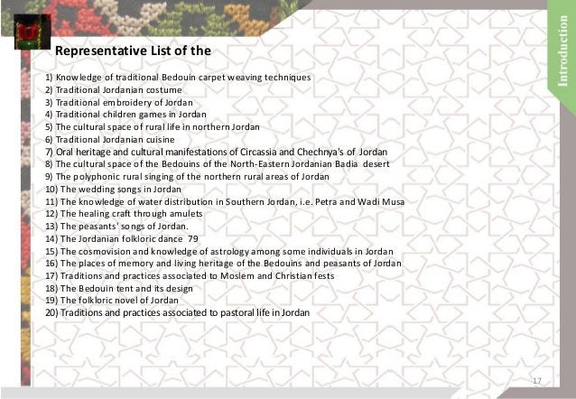 Intangible heritage projects in Jordan 18