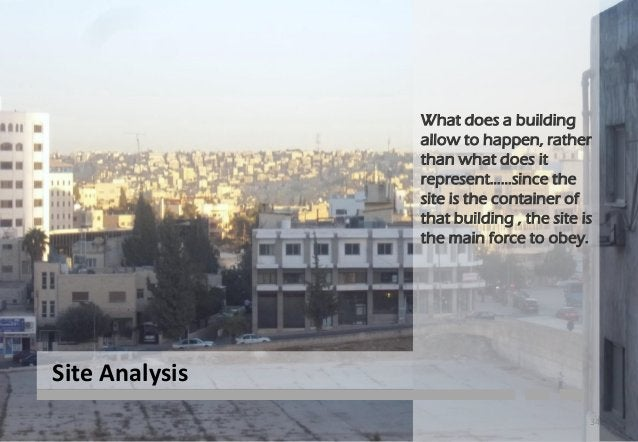 Chapter tow: site analysis 1. SELETION THE SITE 1.1- SITE CRITERIA 1.2- WHY AL- ABDALI 1.3- LOCATION OF SITE IN AL-ABDALI ...