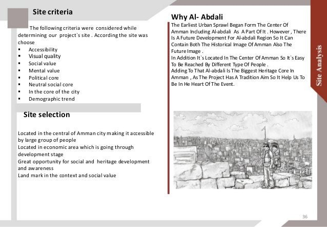 Location of site in Al-Abdali In the Jordanian capital Amman the site is located JORDAN AMMAN The site is located on one o...