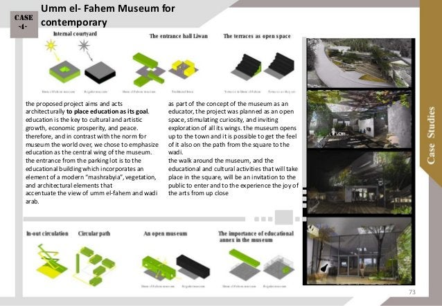 FORMAL ANALYSIS museum construction development internal courtyard outer paths inner paths green places functional analysi...