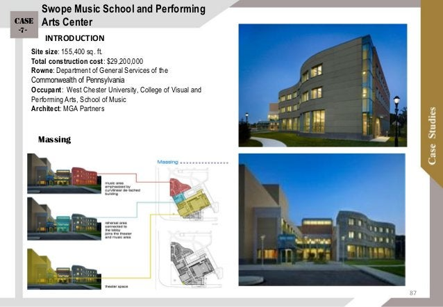 Zoning Program: The 90,000-square-foot building includes the university's music school, music library, student practice ro...