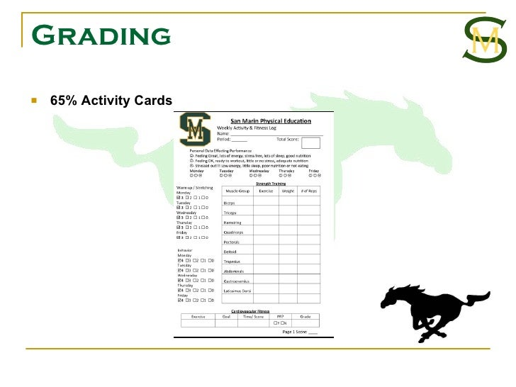 Grading <ul><li>65% Activity Cards </li></ul>