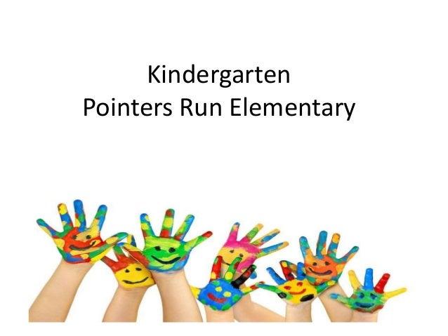 Kindergarten Pointers Run Elementary