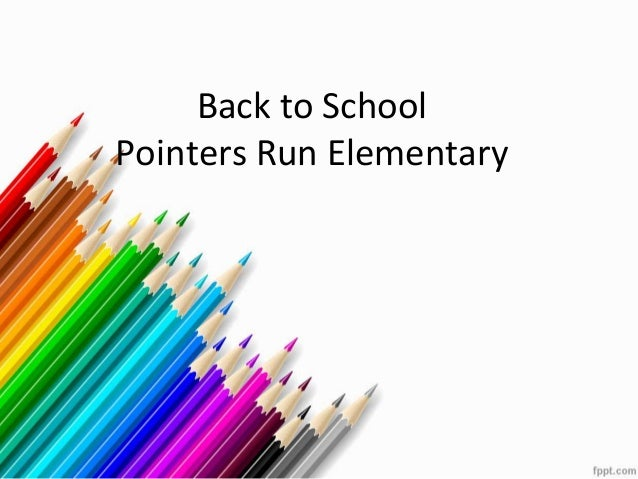 Back to School Pointers Run Elementary