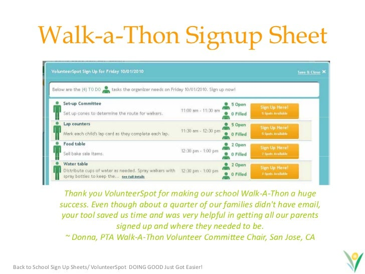 21. Walk A Thon Walk A Thon Signup Sheet ...  Committee Sign Up Sheet Template