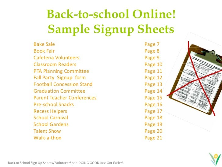 free online sign up sheet