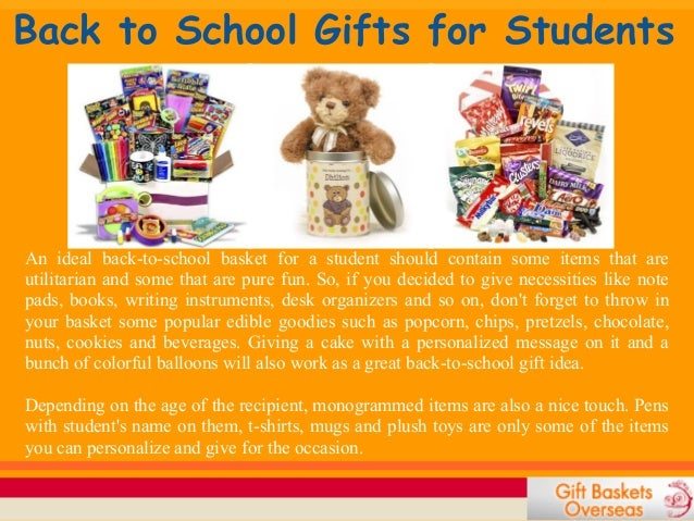 Back-to-school Gift Baskets