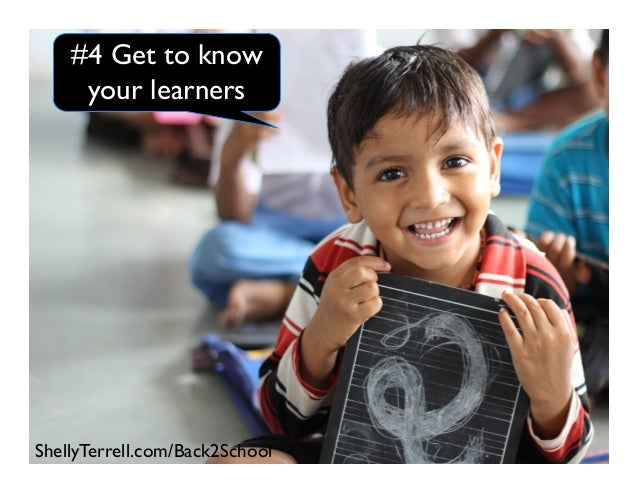 #4 Get to know your learners ShellyTerrell.com/Back2School