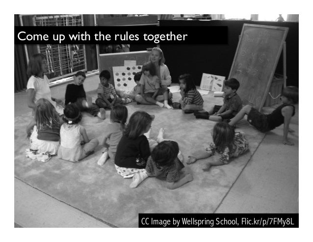 Come up with the rules together CC Image by Wellspring School, Flic.kr/p/7FMy8L