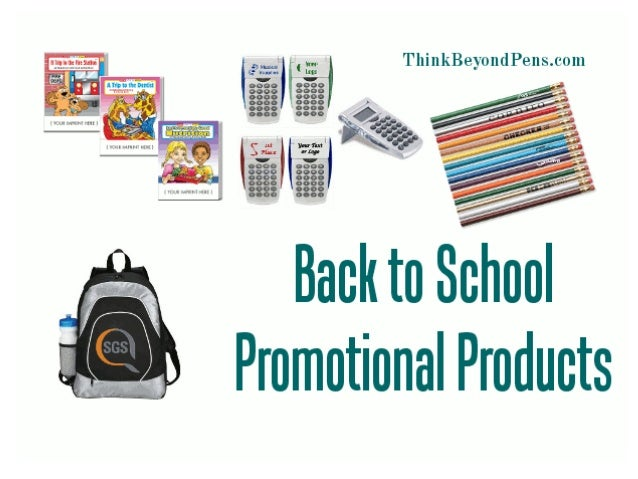 Don't think you have to be a school or retail outlet in order to benefit from back-to-school month promotions.