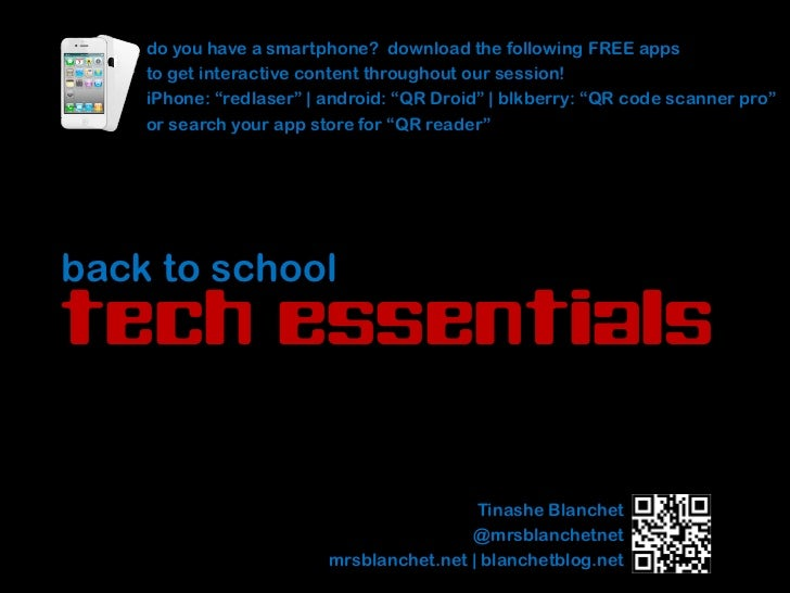 do you have a smartphone? download the following FREE apps    to get interactive content throughout our session!    iPhone...