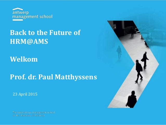 Back to the future of hr@ams Slide 2