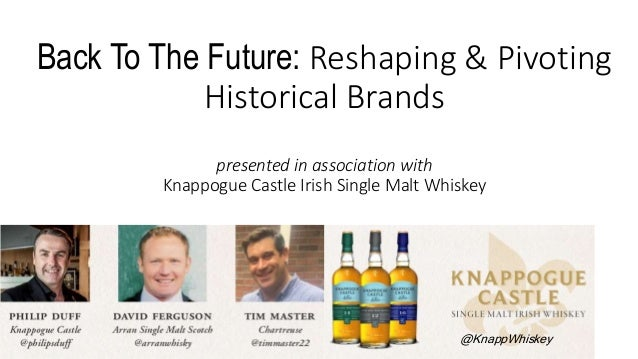 Back To The Future: Reshaping & Pivoting Historical Brands presented in association with Knappogue Castle Irish Single Mal...