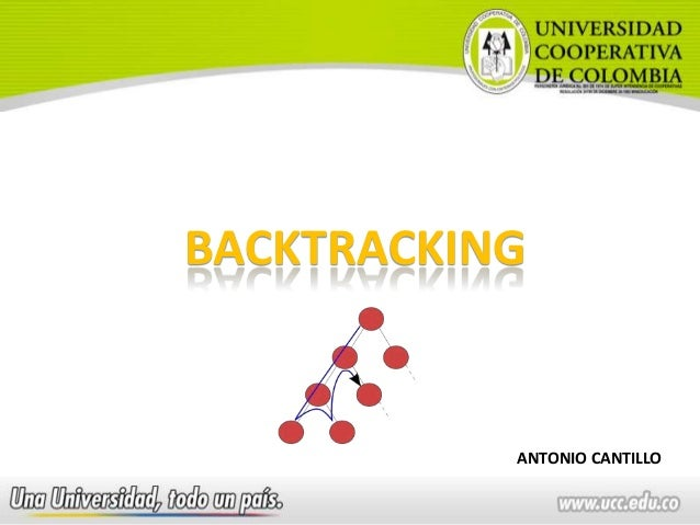 BACKTRACKINGANTONIO CANTILLO